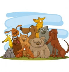 Dogs cartoon vector