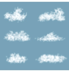 Transparency gradient clouds set vector