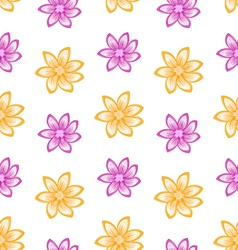 Summer seamless pattern with colorful flowers vector