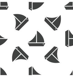 Sailing ship pattern vector