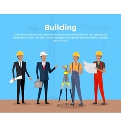 Building banner concept design vector