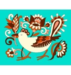 original oriental decorative ethnic bird with vector image