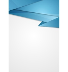 Abstract blue corporate tech flyer design vector