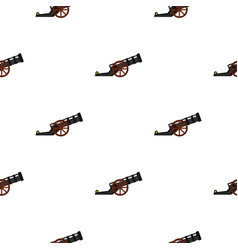Ancient cannon pattern flat vector
