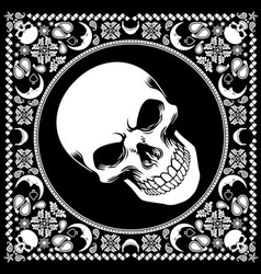 Bandana pattern with skull vector