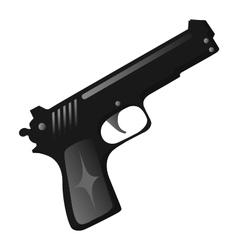 black gun vector image
