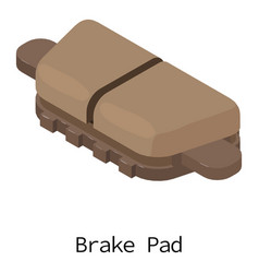 Brake pad icon isometric 3d style vector