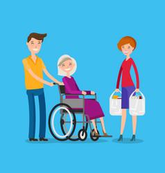 caregiver volunteerism nursing or care of vector image