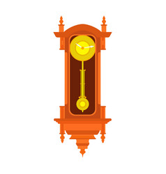 clock wall pendulum old antique time vintage vector image
