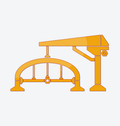 construction logo design isolate on white vector image