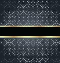 Elegant seamless with golden fine decoration vector
