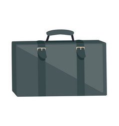 Gray suitcase isolated on white summer vacation vector