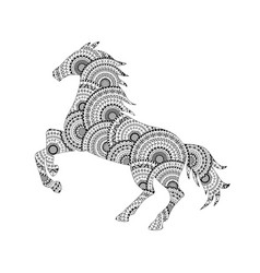 horse silhouette from mandala coloring page vector image vector image