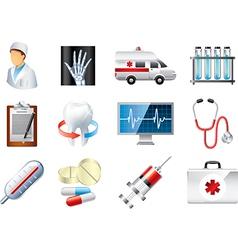 icons medicine vector image vector image