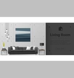 Interior design modern living room background 6 vector