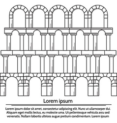 line design arch structure vector image