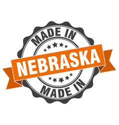 Made in nebraska round seal vector