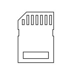 Micro sd card vector