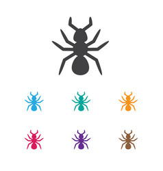 Of animal symbol on parasite vector