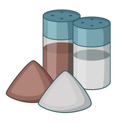 salt pepper shaker icon cartoon style vector image