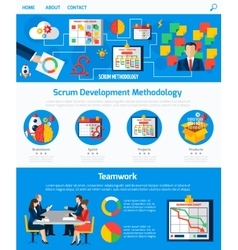 Scrum Agile Development Webpage Design vector image