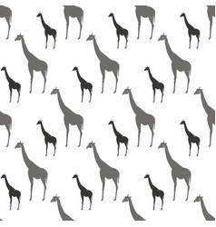 seamless pattern with gray and black silhouette vector image vector image