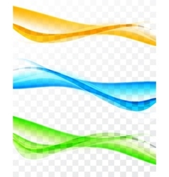 Set of soft colorful banners vector image
