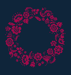 Simple floral decorative wreath inspired by vector