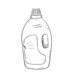 sketch of bottle vector image vector image