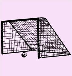 soccer gate soccer ball gate vector image vector image