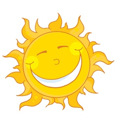 sun smiling vector image vector image