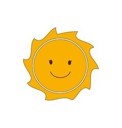 Sunny face sun abstract sunshine icon vector