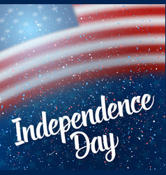The day of independence of usa poster vector