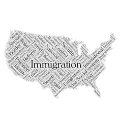 United States immigration word cloud vector image