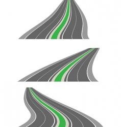 vector perspective roads vector image