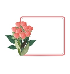 Flower frame icon vector