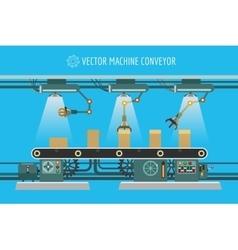 Machinery industrial factory conveyor belt vector