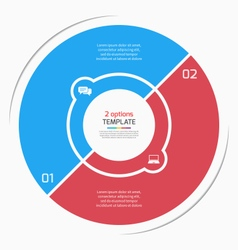 Flat style pie chart circle infographic template vector