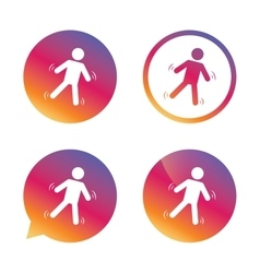 Man falls sign icon falling down human symbol vector