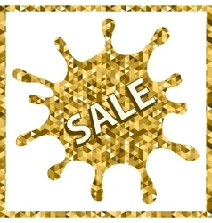 Gold sale background in blot vector