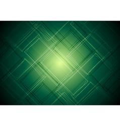 Vibrant green tech design vector image
