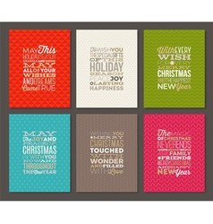 Set of christmas type design vector
