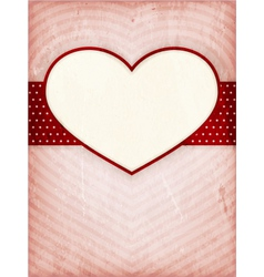 Heart frame on distressed background vector
