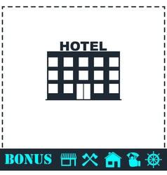 Hotel icon flat vector image