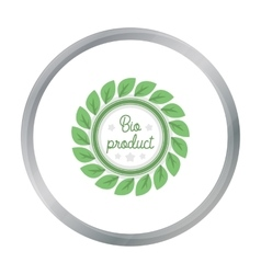 Bio-product icon in cartoon style isolated on vector image