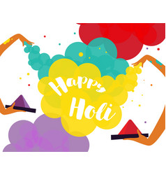 Poster design of traditional indian festival holi vector