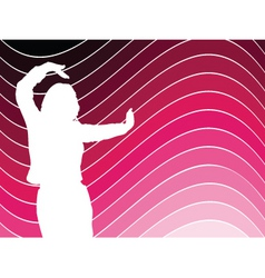 female dancing vector image
