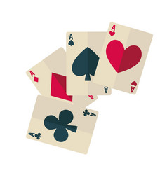 playing cards dark spade and club ruddy diamond vector image