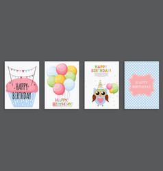 Happy birthday holiday greeting and invitatio vector