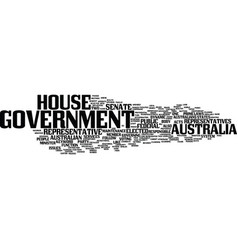 Australia government text background word cloud vector